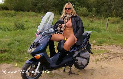 NudeChrissy - Nude On My Scooter scene 0