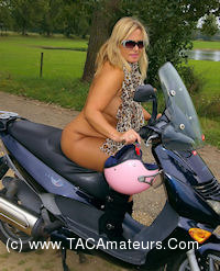 NudeChrissy - Nude On My Scooter scene 3