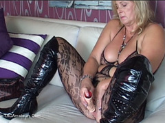 NudeChrissy - Catsuit & Dildo HD Video