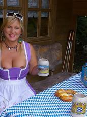 The alm hut I am celebrating my own octoberfest. I wear my dirndl, I am drinking bear and I am tasting a brezel. But very soon the d. Cougar, milf, big tits, bbw/curvy, high heels, legs, european, boots, stockings