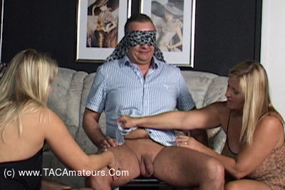 NudeChrissy - Spoiled By Two Blindfolded Girls scene 2