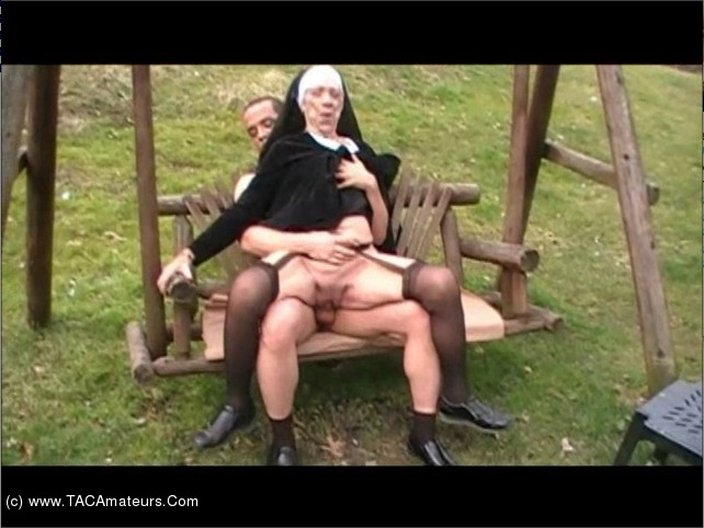CougarChampion - Granny Nun Fucked On A Swing Pt2 scene 0