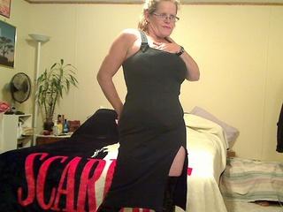 Misha MILF - Grey Slit Dress Picture Gallery
