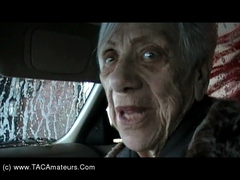 CougarChampion - Granny Marg Cock Sucking At The Car Wash Video