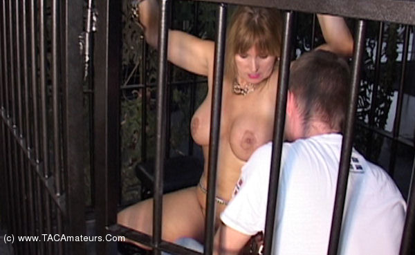 NudeChrissy - At The Cage scene 1