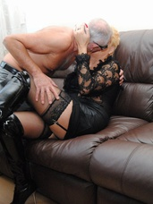 George  di oral George and Di are soon snogging on the sofa and stripping each other off. They then get down on the sofa and George eats. Cougar, milf, united kingdom, mature, lingerie, high heels, petite, legs, stockings, big tits, bbw/curvy, leather, sex toys, hand jobs