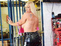 melody - PVC Trousers In The Cage Free Pic 1