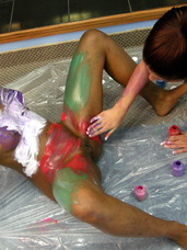 Sapphic messy body paint Watch me and my pal Fiona get playful and color each other with finger paints. Maybe you can join in next time. Milf, cougar, big tits, united states, lesbian sex, lesbian orgies, interracial