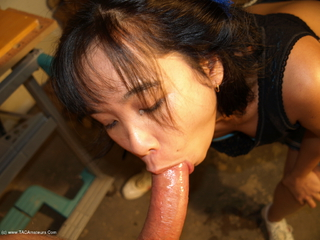 AsianDeepthroat - Cleaning the car then getting