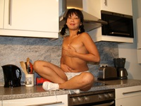 asiandeepthroat - Melissa Naked In The Kitchen Free Pic 1