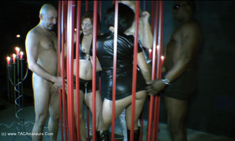 NudeChrissy - Three Girls In A Cage Pt2 scene 3