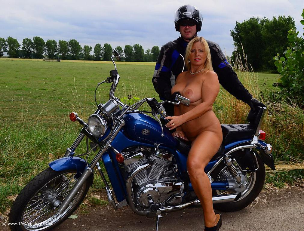 Valuable Young biker chick naked something
