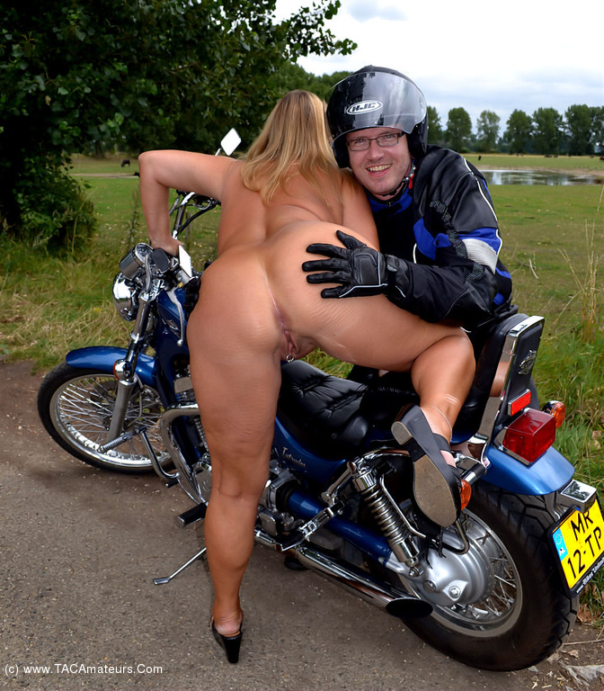 That interrupt Young biker chick naked