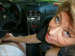 Caro - Jerking Off In The Car Photo Album