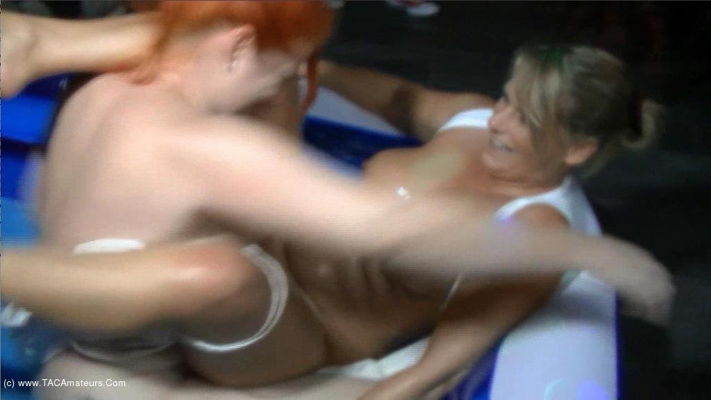 AngelEyes - Lesbo Baby Oil Wrestling scene 2
