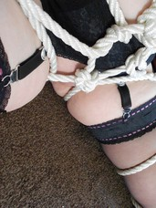 Roped  wet All this tying up makes me very hot, lascivious and wet so my master gave me a very heavy have sex as a reward.. Mature, milf, cougar, bbw/curvy, united kingdom, striptease, lingerie, stockings, feet/shoes, high heels, bdsm, domination