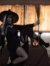 Halloween witch project Very difficult to get pics of a witch Melody x. High heels, feet/shoes, exhibitionist, legs, milf, big tits, lingerie, united kingdom, striptease, witch, got