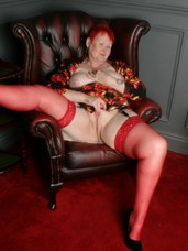 Red stockings I always love going in to the studio to shoot pics for you guys.....and a lot of you have asked for more stockings, so h. Mature, milf, cougar, bbw/curvy, united kingdom, striptease, lingerie, stockings, feet/shoes, high heels, bdsm, domination