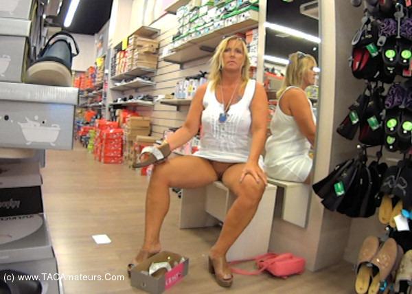 NudeChrissy - Shoe Shopping scene 0