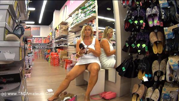 NudeChrissy - Shoe Shopping scene 1