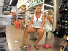 NudeChrissy - Shoe Shopping HD Video