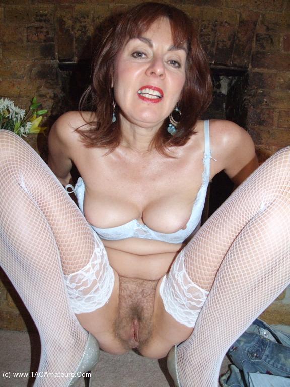 White fishnet stockings milfs