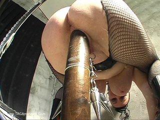 Mary Bitch - Huge Wood Dildo Video