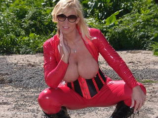 Melody - Red Catsuit Pt1 Picture Gallery