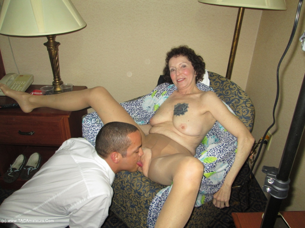 Sexy amateur mature fucking two guys pt3