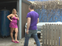 NudeChrissy Outdoor Fuck In Front Of The Garage thumbnail