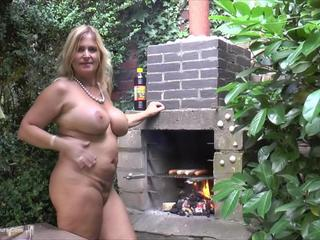 Nude Chrissy - Nude Barbeque HD Video