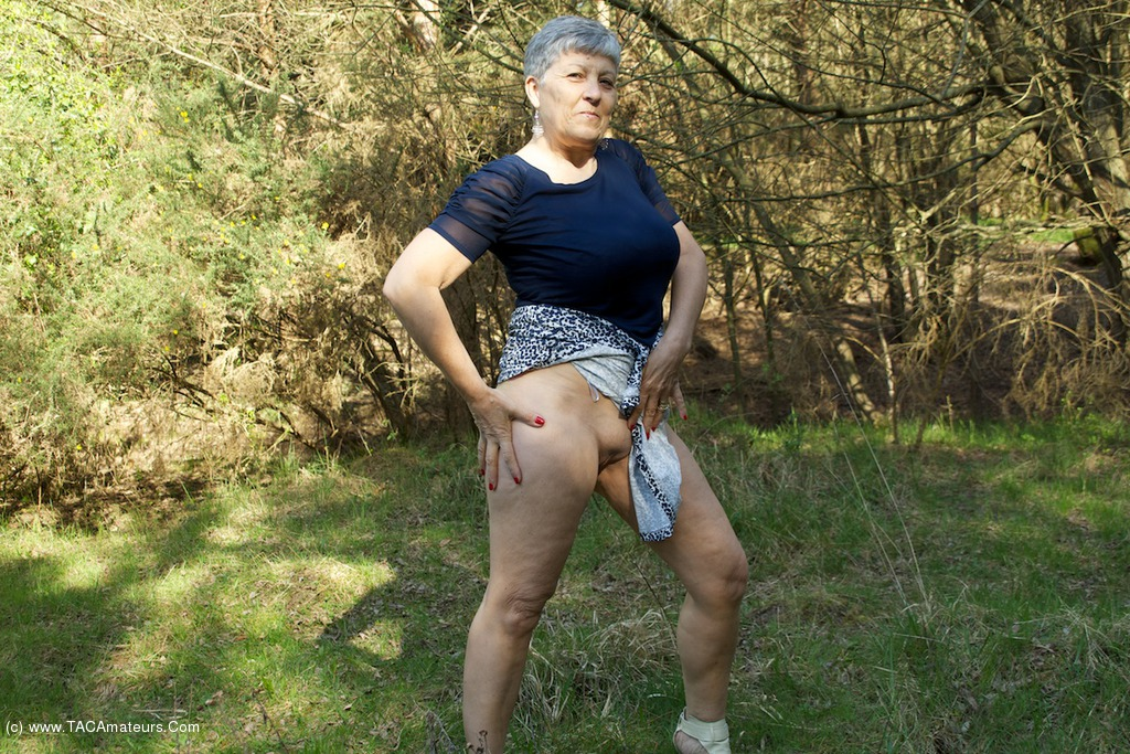 Granny in the woods porn