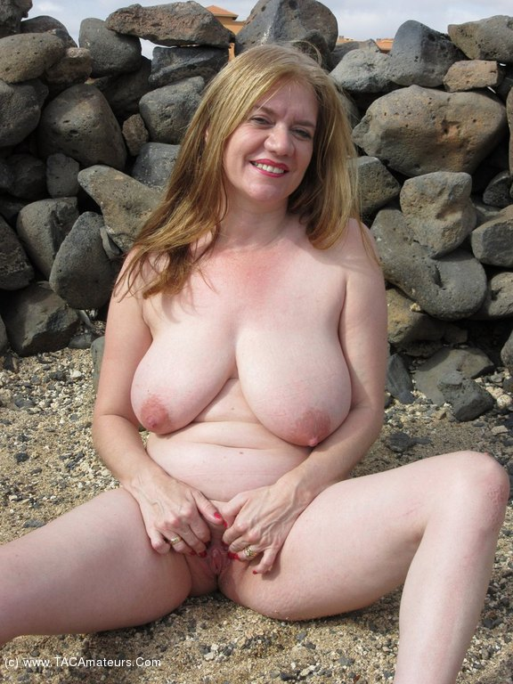 Amateur busty blonde talks about her fantasy