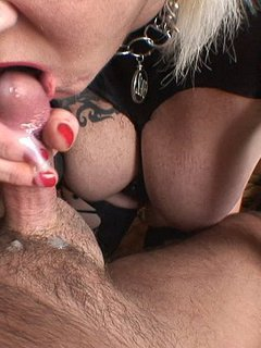 I suck my masters cock, licks his balls and then he cums in my mouth
