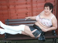 Picture Gallery from KinkyCarol - White Boots Pt2.