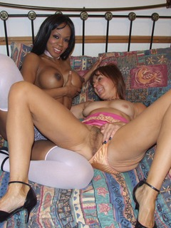 Interracial Lesbo Fun