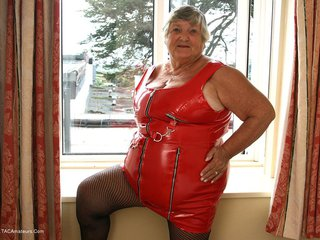 Grandma Libby - Tight Red PVC Picture Gallery