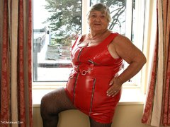GrandmaLibby - Tight Red PVC Photo Album
