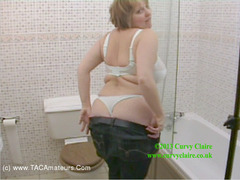 CurvyClaire - Shower Dressing Pt1 HD Video