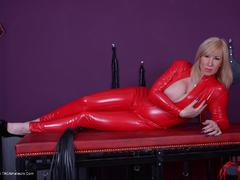 Melody - Red PVC Catsuit Photo Album
