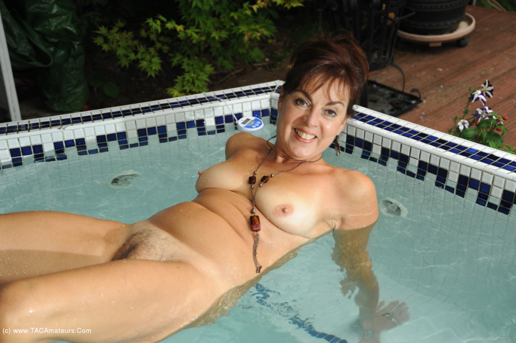 Casually mature milf nude by pool consider, that