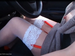 BarbySlut - Barby Sluts Car Trip Pt1 HD Video