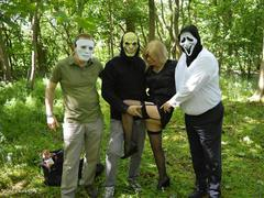BarbySlut - Masked Gang Bang Pt1 HD Video