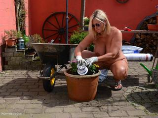 Nude Chrissy - Planting Flowers Naked HD Video