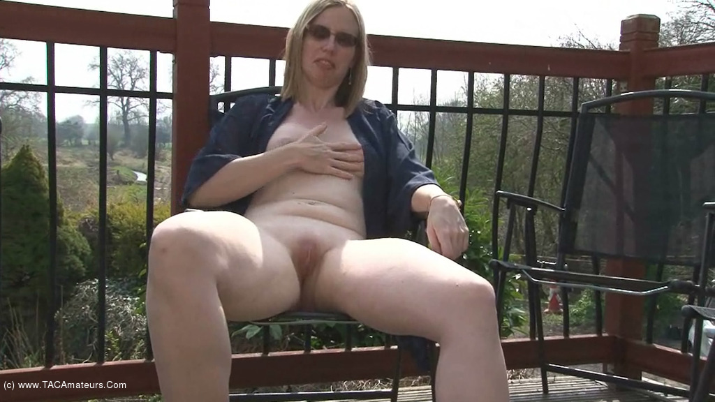 SammieSlut - Slut On The Patio scene 0