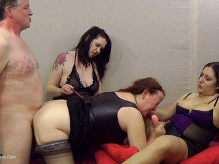 Kimberly Scott - Mature Slut Spit Roasted  Cropped HD Video