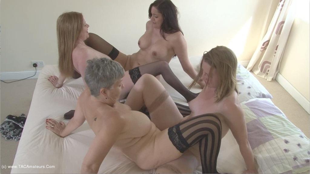 SammieSlut - Four Lesbian Milfs Pt3 scene 1