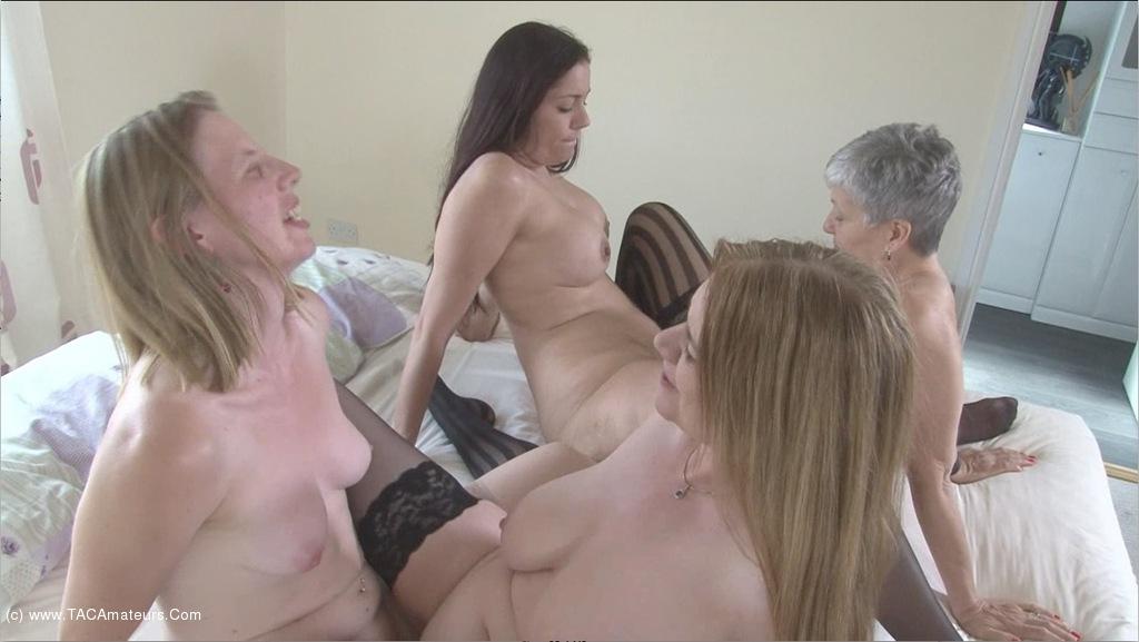 SammieSlut - Four Lesbian Milfs Pt3 scene 2