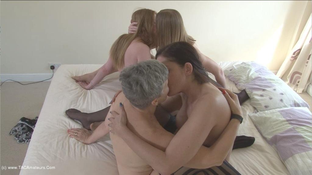 SammieSlut - Four Lesbian Milfs Pt3 scene 3