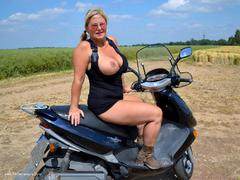 NudeChrissy - Another Trip On My Motor Bike Photo Album